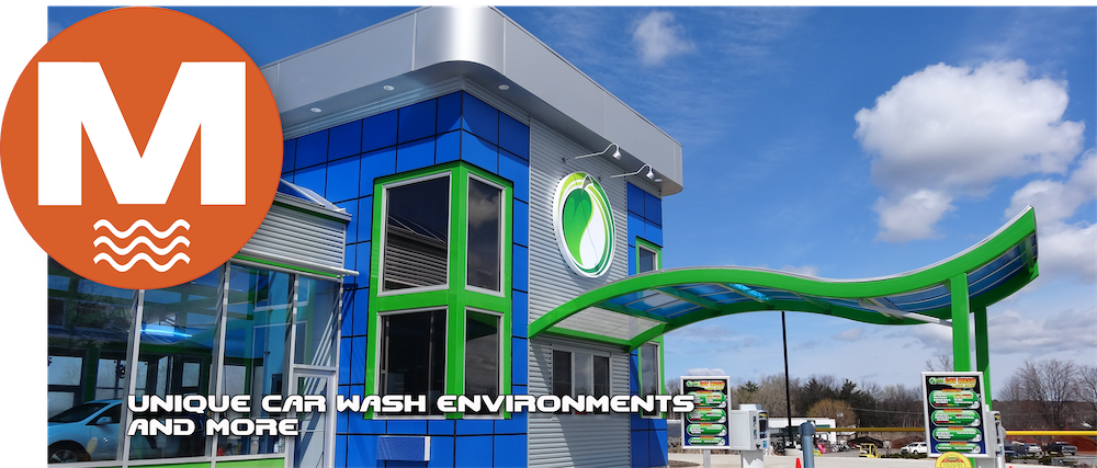 Picture of a Modern Car Wash Building from ModernWash.net